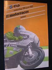 Flyer NS (Nederlandse Spoorwegen) TT Motorraces Assen 26 juni 1982  (TTC)