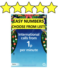 GOLD STAR VIP O2 02 Sim Card FANCY EASY Mobile Number [Choose From Description]