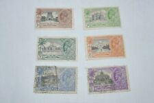 India George Vth stamps 25th anniversary 1935 x6 (1/2a,9p,1a,1 1/4a,2 1/2a,3 1/2