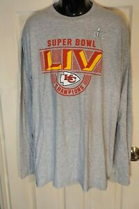 NFL Fanatics KANSAS CITY CHIEFS SUPER BOWL Champions Long Sleeve Shirt NWT 3XL