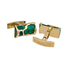 Visconti Cufflinks art Malachite Vermeil