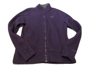 UNDER ARMOUR Women's XL Purple Full Zip Jacket With Thumb Holes