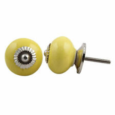 Round Yellow Cabinet Knob | Drawer Pull | Drawer Handle | Door Handle
