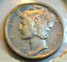 1943-D SILVER MERCURY DIME  HIGHER GRADE COIN