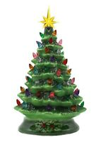 "The San Francisco Music Box Company 14"" Musical Ceramic Lighted Christmas Tree"