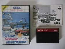 SCI SPECIAL CRIMINAL INVESTIGATION - SEGA MASTER SYSTEM - COMPLET