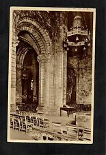 SELBY ABBEY INTERIOR. FRITH'S POSTCARD POSTED 1956