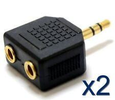 2x Adaptateur separateur doubleur Audio Stereo Jack 3,5mm coupleur Adapter