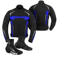 Motorbike / Motorcycle Jacket and Boot/Shoes Bike Riding Clothing Armoured CE