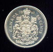 CANADA 1961 SILVER HALF DOLLAR CH BU (G601)