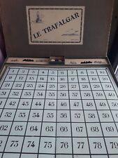 Ancien jeu Le Trafalgar A.M.Paris Jetons os bovin, Bateau plomb Bataille naval
