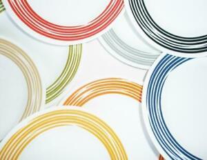 "Corelle Joy Manago BRUSHED STROKES 8 1/2"" Wide Rim LUNCH Plate *Choose Color"