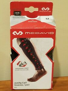 McDavid 8836 mmHg Targeted Compression Calf Sleeves - Pair - Black - M Medium