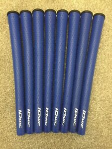 IOMIC STICKY 2.3 Golf Grips x 8 Colour BLUE Inc Tape & Fitting Instructions NEW