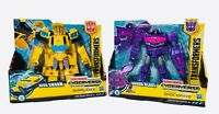 "Transformers Cyberverse 7.5"" Shockwave Bumblebee shock blast hive swarm lot of 2"