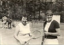 Vintage Large Real Photo- German Sports- Stylish Women Play Tennis- 1950s-60s