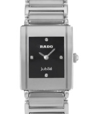 NWOT Ladies Rado Integral Jubile´ R20488722 Diamond Ceramic & Stainless Watch