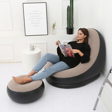 Inflatable Bean Bag Lazy Sofa Footrest Stool Lunch Break Leisure Couch Chair