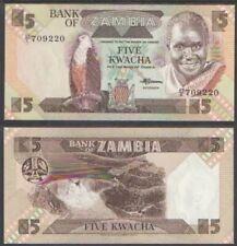 Zambia 5 Kwacha, 1980-88, P-25, Unc World Currency - Paper Money