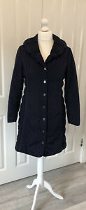 Per Una Rain Coat Womens Navy Blue Size M 12 - 14 Marks And Spencer