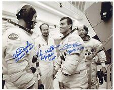 Nasa Apollo 16 8 x 10 photo signed by Charlie Duke Edgar Mitchell Fred Haise Asf