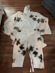 German Army Snow Arctic Winter Camouflage Cotton Poncho And Trousers
