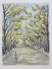 """VICTOR ZAROU """"ROAD TO ARLES"""" Hand Signed Limited Edition Lithograph French Art"""