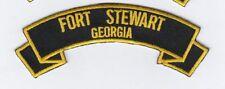 "Fort Stewart Ga 4"" rocker tab embroidered patch"