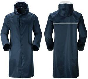 Adults Waterproof Raincoat Long Lightweight Coat Jacket Hooded Womens Mens Rain