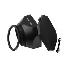 Screw Mount 37mm DV Lens Hood With Cap for Sony E-Mount NEX-3 NEX-5N NEX-VG10