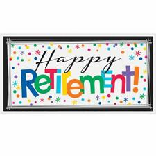 Giant 5ft Happy Retirement Wall Banner Scene Setter Party Decoration Photo Prop