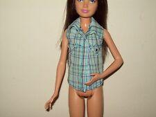 Mary Kate Ashley Skipper Sharpay Gabriella Doll Clothes Blue Plaid Shirt Blouse