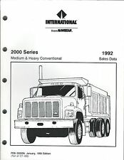 Truck Brochure - International 2000 series Features Specifications 1992 (T2057)