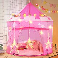 Princess Pop Up Castle Play Tent Girls Playhouse Wendy House Den Kids Fun