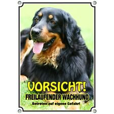 Dog Sign Hovawart - Beautiful Warning Sign Made of Metal - Uv Resistant