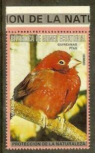 Equatorial Guinea -1974- South American & Australian bird - Amandina del Collar