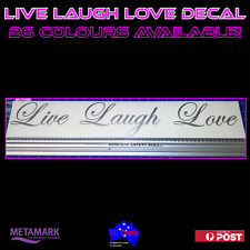 59cm LIVE LAUGH LOVE decal sticker.Wedding car,caravan,motorhome,camper,window!