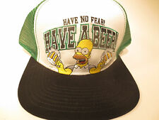 The Simpsons Duff Beer Green Hipster Vintage Trucker Snapback Hat CLEARANCE SALE