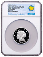 (2017) W Barber 1877 Half-Union Lrg Head 1 oz Silver Medal NGC GEM PF SKU51926
