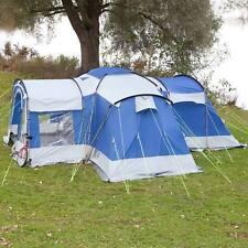 skandika Nimbus 8 Person/Man Group Tent 4 Sleeping Cabins 2 Entrances Blue New