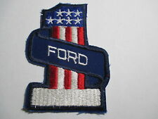 Ford # 1 Patch, RED/White/Blue, NOS Vintage, Original, RARE, 2 3/4 x 4 Inches
