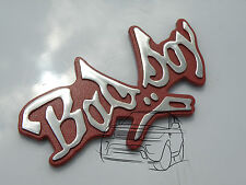 CHROME BAD BOY BADBOY CAR BADGE CLIO CORSA FORD FIESTA POLO GOLF BADGIRL GIRL