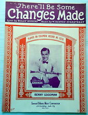 BENNY GOODMAN Sheet Music THERE'LL BE SOME CHANGES MADE Edward B. Marks Publ.