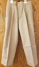 Nwt Arizona Youth Boys Premium Khaki Pants Size 8 Regular Pleated Front Cotton