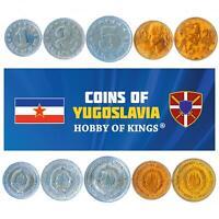 SET OF 5 COINS FROM YUGOSLAVIA. 1, 2, 5, 10, 20 DINARA. 1963