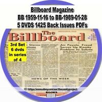 Billboard Magazine Vintage 6 DVDs 1425 Back issues Entertainment 3rd in Series