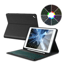 For iPad 9.7 6th Gen 2018 Air 1 2 Backlit UK Bluetooth Keyboard Stand Case Cover