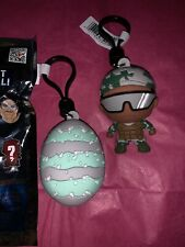 NeW Collectible Bag Clip Godzilla King Of Monsters * Mothra Egg & Soldier LoT