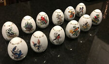 Roger Tory Peterson Porcelain Songbird Egg Collection