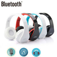 Foldable Wireless Bluetooth Stereo Headset Headphones Mic for iPhone Samsung EN